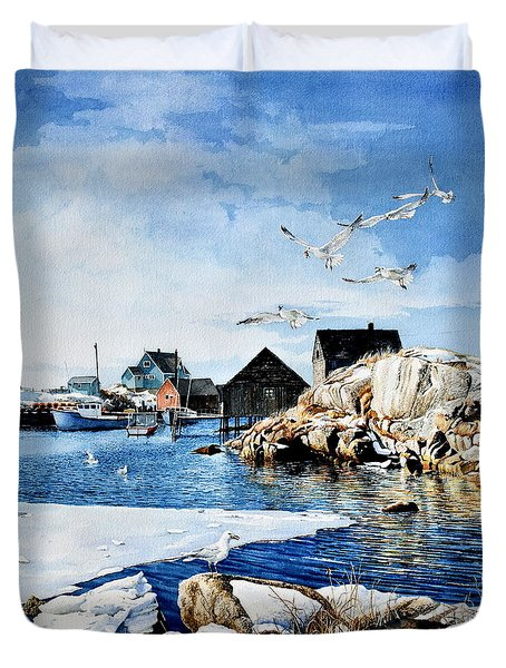 Duvet Cover featuring the painting Reason To Believe by Hanne Lore Koehler
