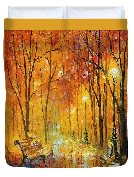 Reasons Of Autumn  Duvet Cover by Leonid Afremov