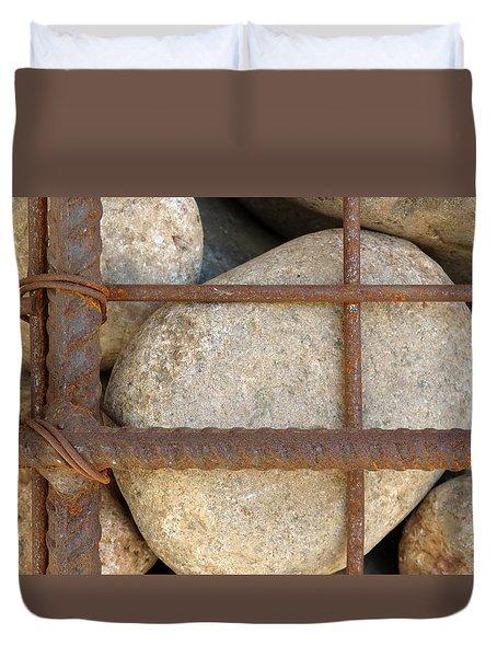 Rebar And Rocks Duvet Cover