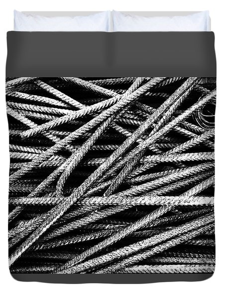 Rebar And Spring - Industrial Abstract  Duvet Cover