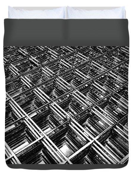 Rebar On Rebar - Industrial Abstract Duvet Cover