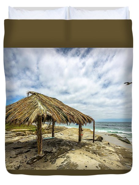 Rebirth  At Windandsea Duvet Cover by Peter Tellone