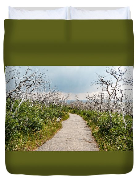 Duvet Cover featuring the photograph Rebirth by Jay Stockhaus