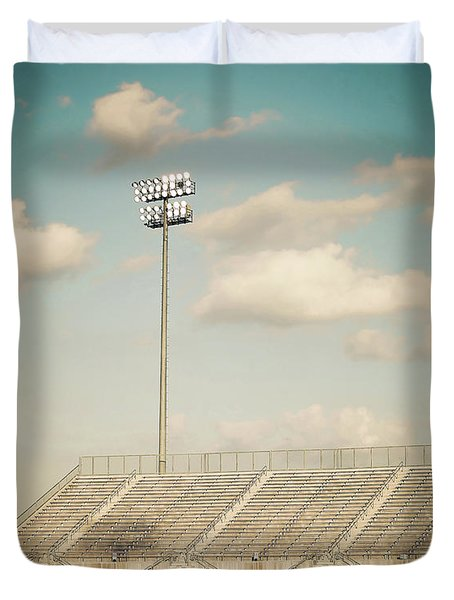 Duvet Cover featuring the photograph Recalling High School Memories by Trish Mistric