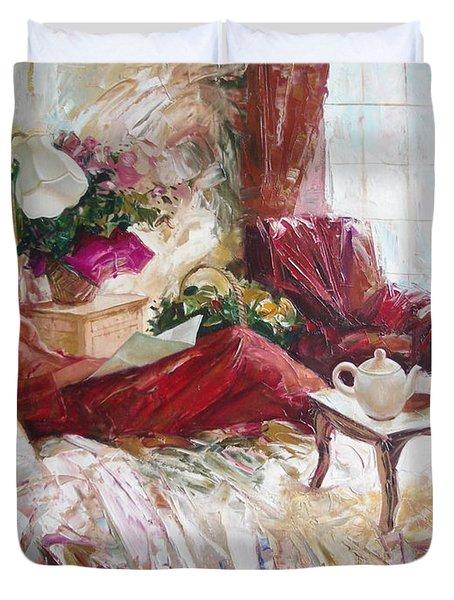 Recent News Duvet Cover by Sergey Ignatenko