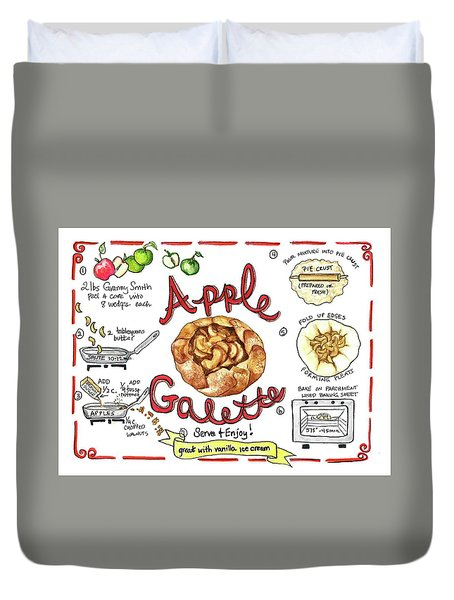 Recipe- Apple Galette Duvet Cover