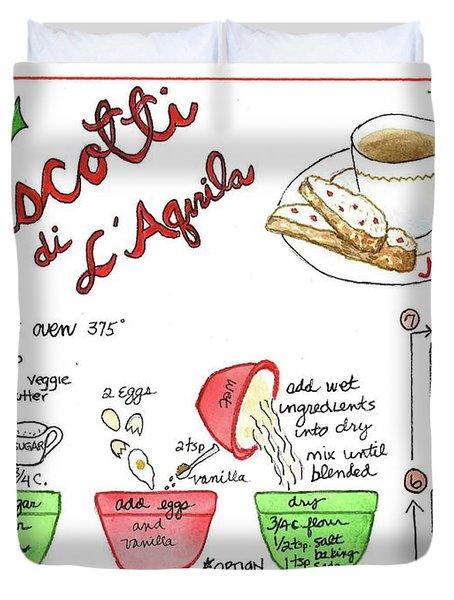 Recipe Biscotti Duvet Cover