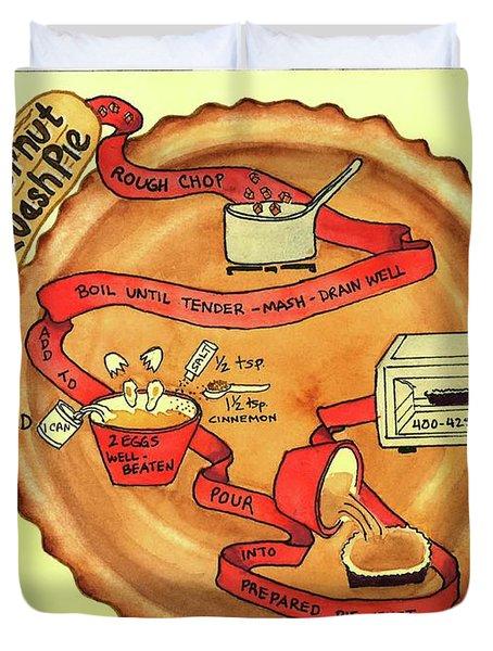 Recipe-butternut Squash Pie Duvet Cover