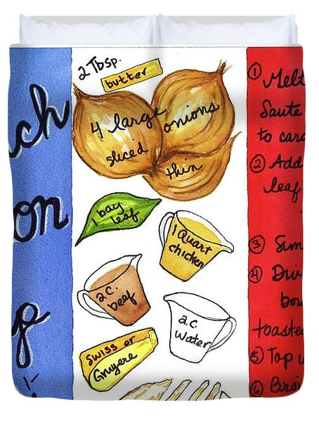 Recipe French Onion Soup Duvet Cover