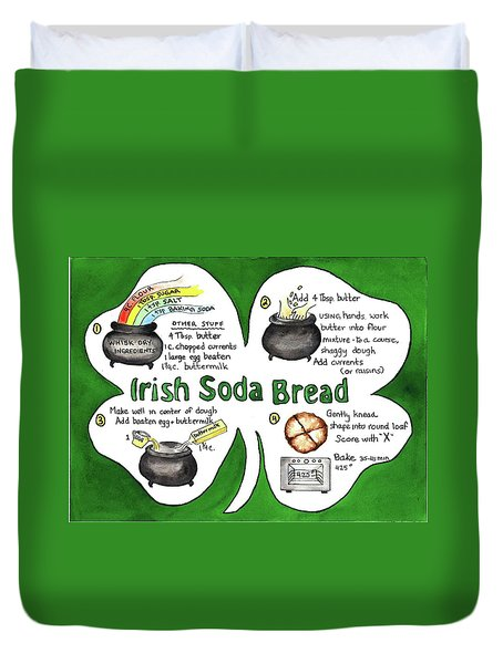 Recipe - Irish Soda Bread Duvet Cover
