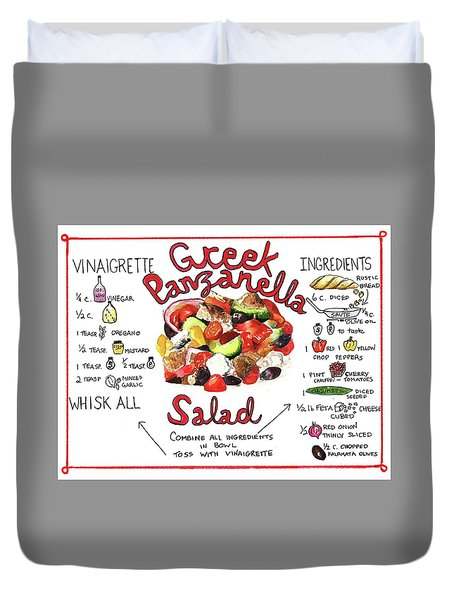 Recipe- Panzanella Salad Duvet Cover