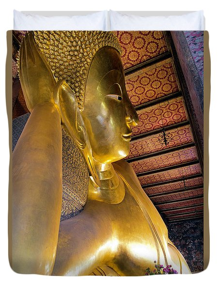 Reclining Buddha Of Wat Pho Duvet Cover