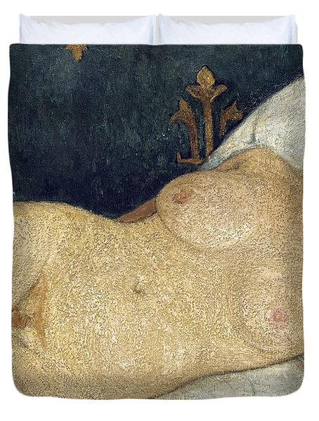 Reclining Female Nude Duvet Cover by Paula Modersohn-Becker