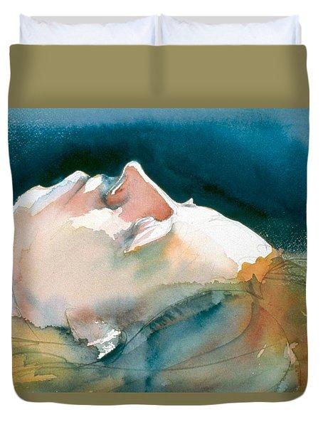Reclining Head Study Duvet Cover