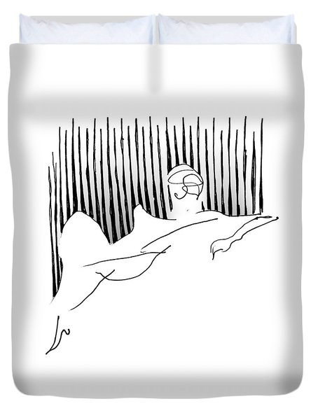 Reclining Lady Duvet Cover by Keith A Link