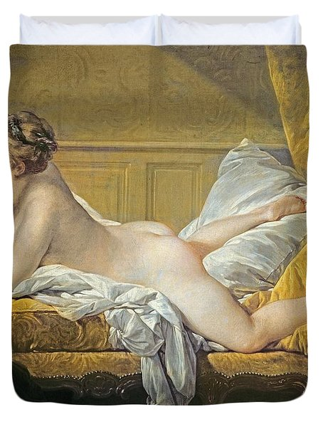 Reclining Nude Duvet Cover by Francois Boucher