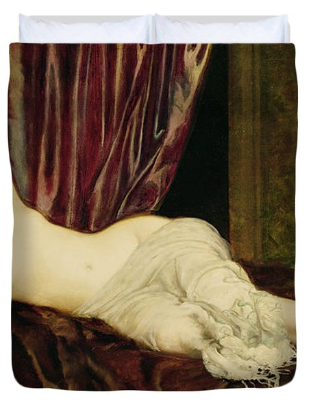 Reclining Nude Duvet Cover by Henri Fantin Latour