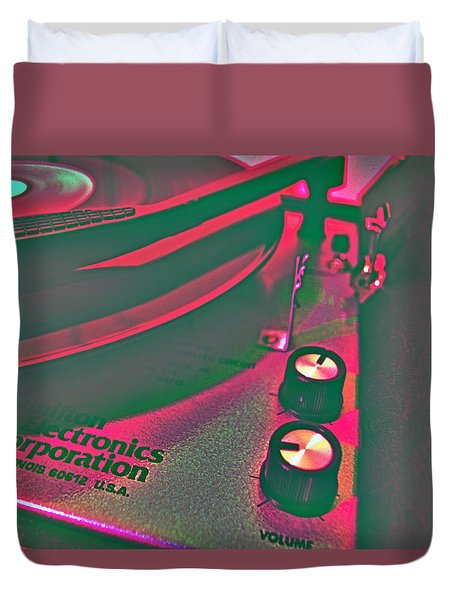 Record Player Duvet Cover