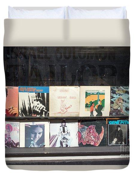 Record Store Burlington Vermont Duvet Cover by Edward Fielding