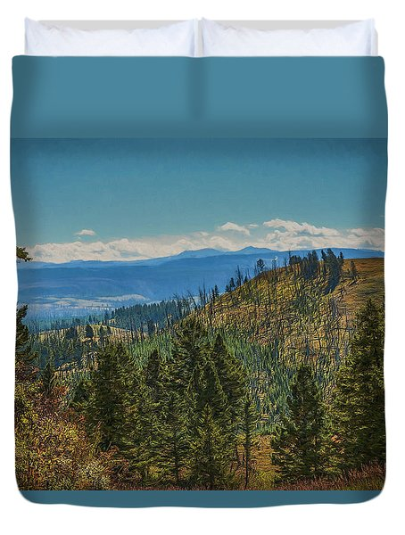 Recovery After Fire At Yellowstone Duvet Cover