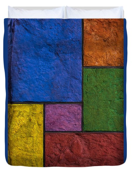 Rectangles Duvet Cover by Don Gradner