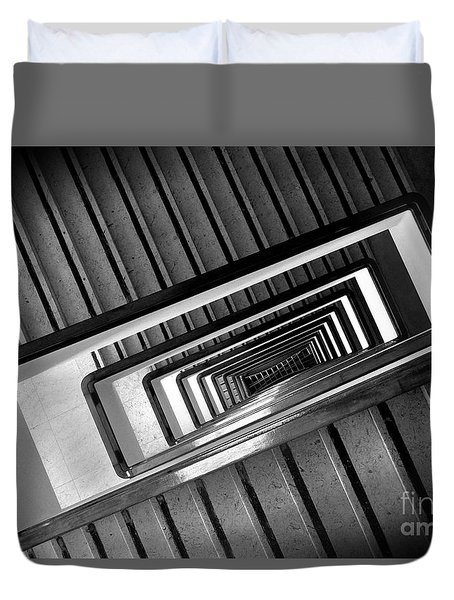 Rectangular Spiral Staircase Duvet Cover