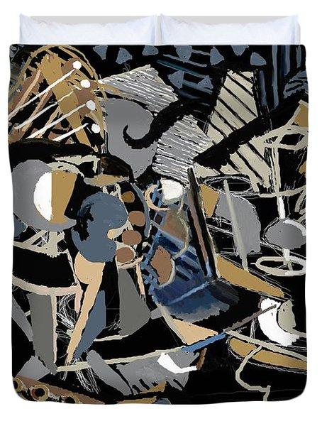 Duvet Cover featuring the digital art Recuerdos De Espana by Clyde Semler