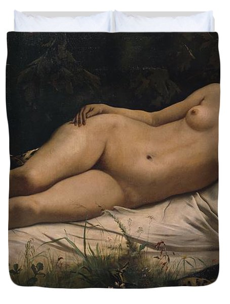 Recumbent Nymph Duvet Cover