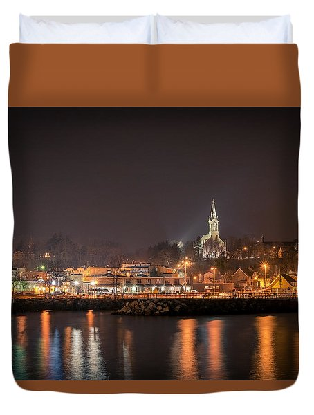 Red 1860 Duvet Cover by James Meyer