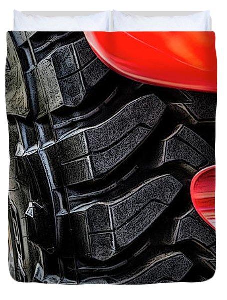 Red 4x4 Duvet Cover