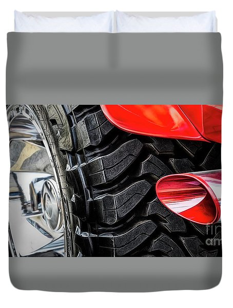 Red 4x4 Duvet Cover