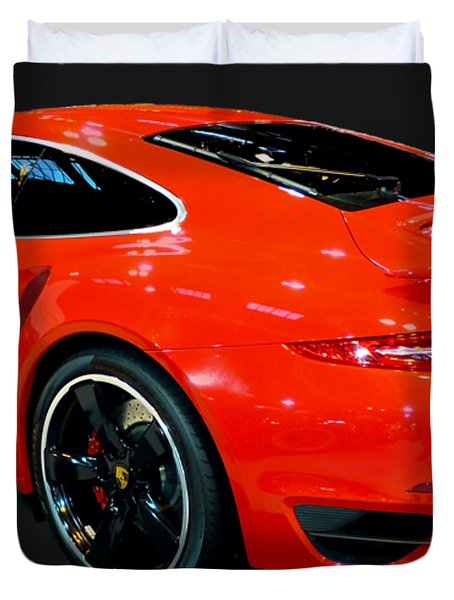 Red 911 Duvet Cover