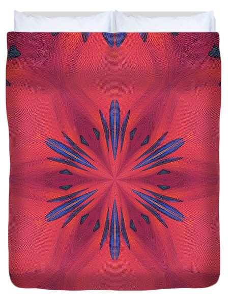 Red And Blue Duvet Cover