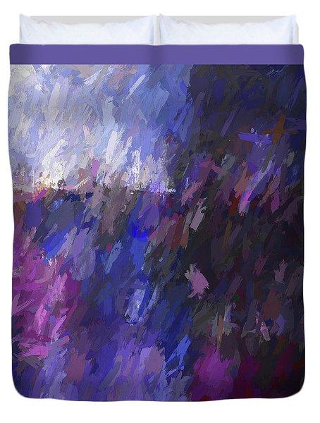 Red And Blue Make Violet Duvet Cover