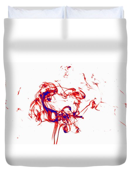 Red And Blue Twirrl Duvet Cover