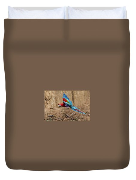 Red-and-green Macaw Duvet Cover