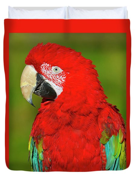 Duvet Cover featuring the photograph Red And Green by Tony Beck
