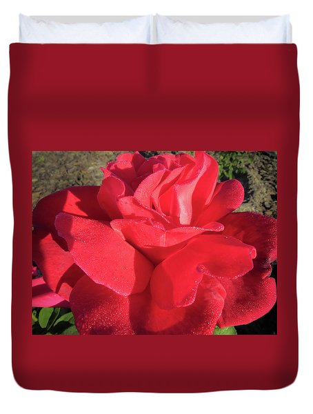 Red And Wet Duvet Cover