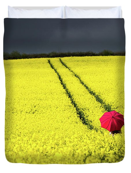 Red And Yellow And....... Duvet Cover