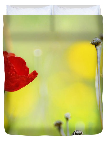 Red And Yellow Duvet Cover by Guido Montanes Castillo