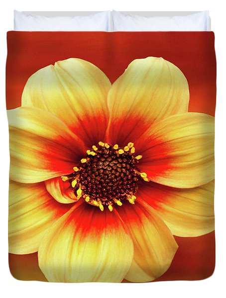 Red And Yellow Inspiration Duvet Cover