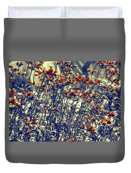 Duvet Cover featuring the photograph Red Army by Wayne Sherriff
