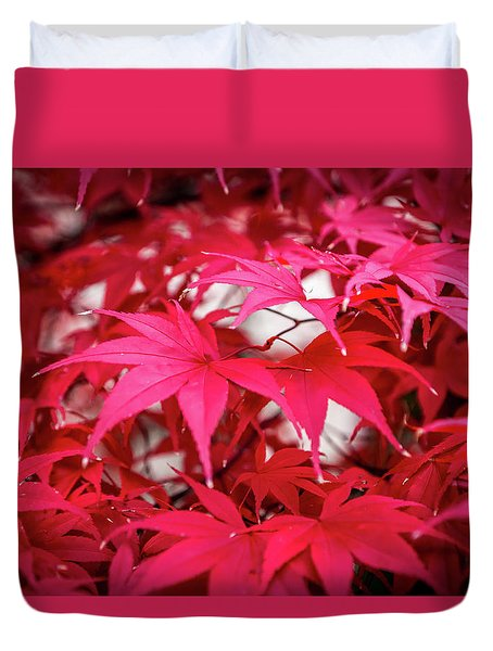 Red Autumn Duvet Cover