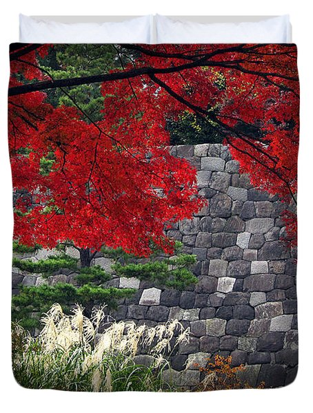 Red Autumn Duvet Cover by Eena Bo