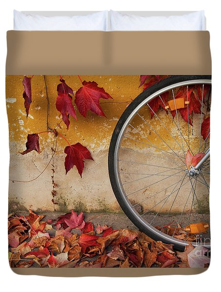 Red Autumn Duvet Cover by Yuri Santin