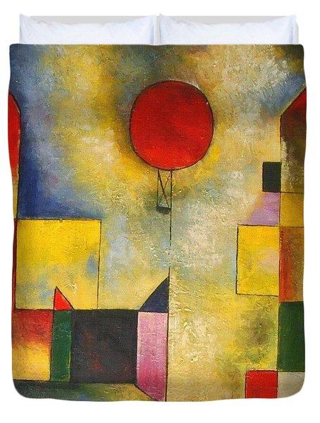 Red Balloon Duvet Cover