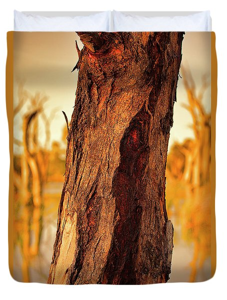 Red Bark Duvet Cover by Douglas Barnard
