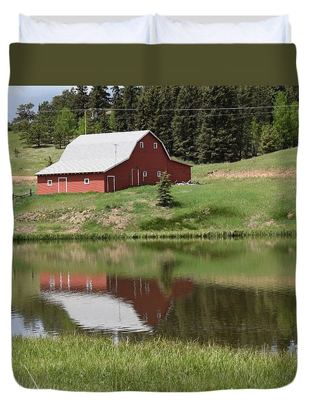 Red Barn Burgess Res Divide Co Duvet Cover
