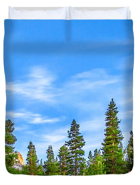Red Barn On A Hill Duvet Cover