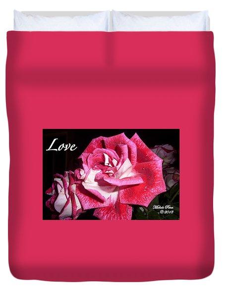 Red Beauty 3 - Love Duvet Cover